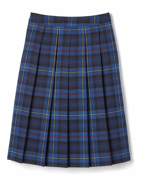 Adult Below The Knee Plaid Pleated Skirt