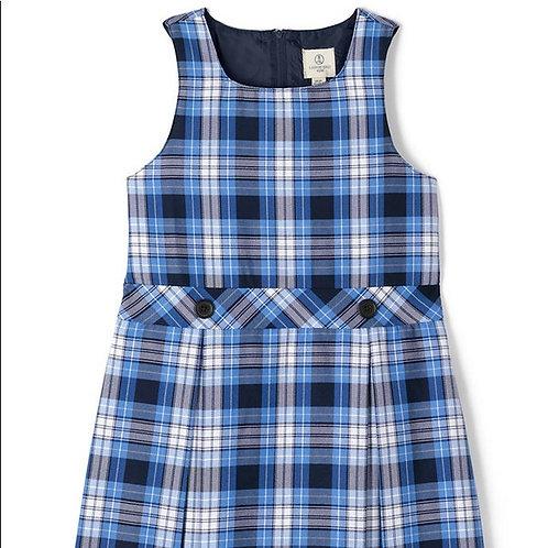 Round Neck Plaid Dress