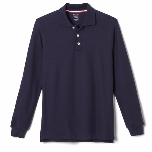 Youth Long Sleeve Unisex Polo with Transfer