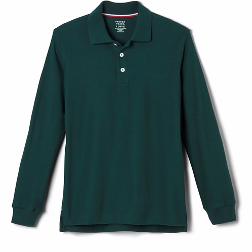 Adult Long Sleeve Unisex Polo with Embroidery