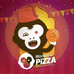 Monkey's Pizza | Advertisement | Logo | Packaging