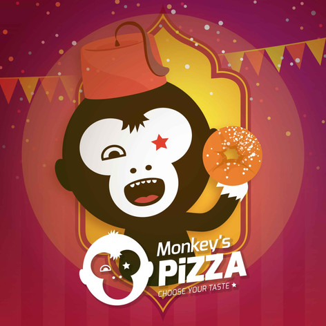 Monkey's Pizza | Advertisement | Logo | Packaging