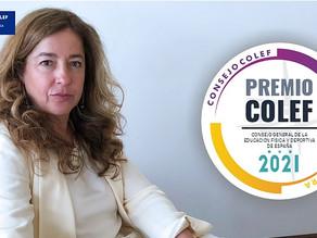La candidata del COLEF CLM, Dña. Leonor Gallardo, galardonada con el Premio Consejo COLEF 2021