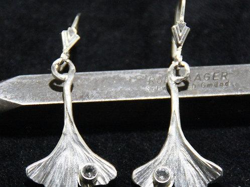 Gingo Ohrhänger mit Bergkristall
