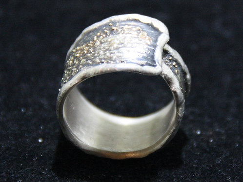 925 Silber Gold Ring