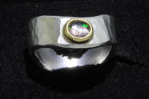 Opal flach Ring