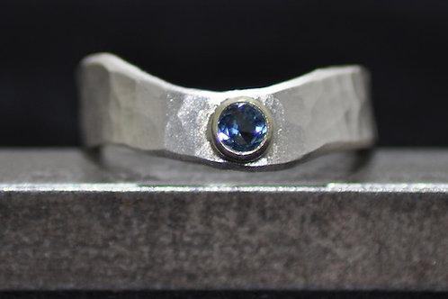 Edelstein Ring Feinsilber