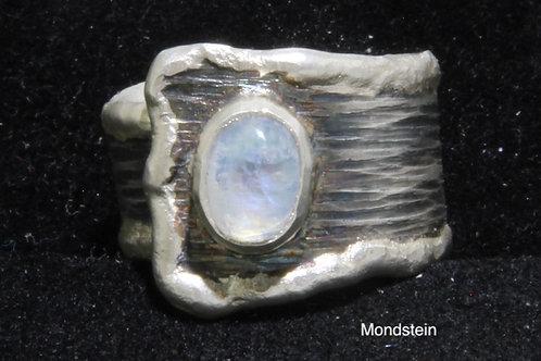 Silberring 925 mit Mondstein
