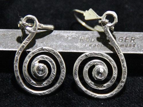 Ohrhänger Spirale mit Bergkristall