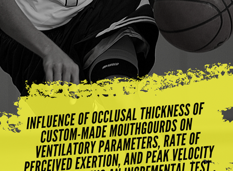 *Art. comentado: Influence of occlusal thickness of custom-made mouthguards on exercise parameters