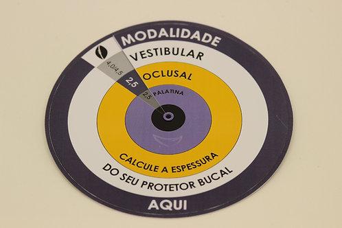 Régua de espessura de Protetores Bucais