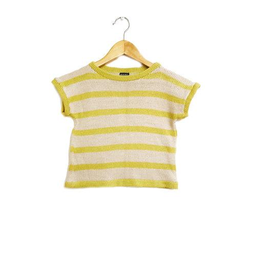 Remerita rayada crudo amarilla - pieza unica