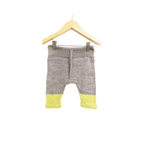 Pantalón tejido bicolor - talle 1 - pieza única