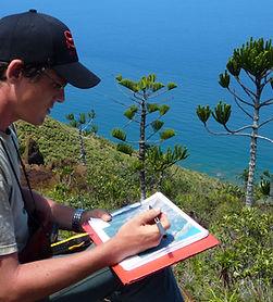 Romain BARRIERE, ingénieur écologue botaniste en Nouvelle-Calédonie