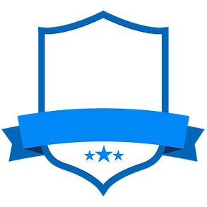 Em branco Blue Badge