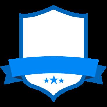Placa azul en blanco