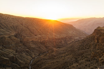 Sunset over Jebel Akhdar