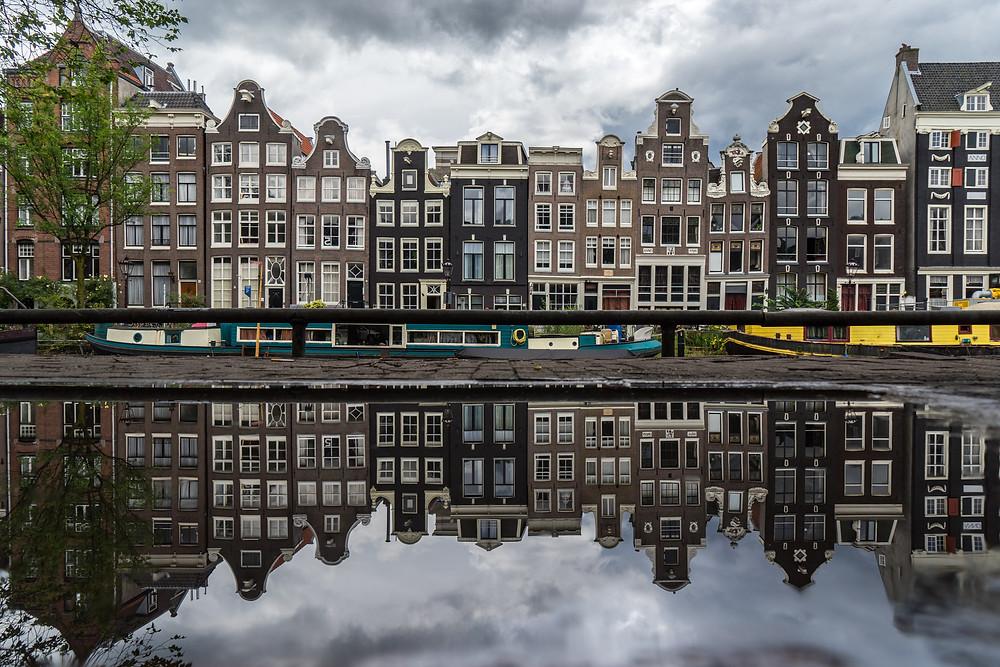 Singel /Blauwburgwal Canal Amsterdam