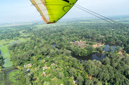 Angkor views from a microlight