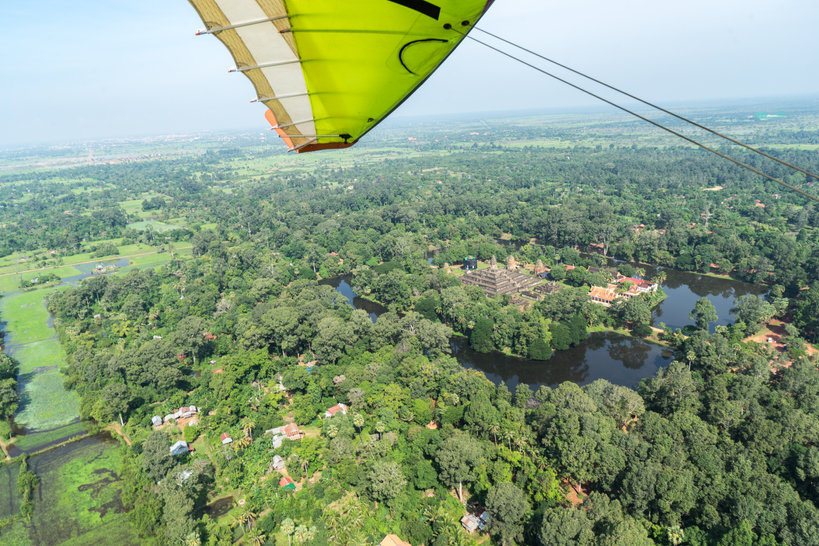 Angkor views from a microlight