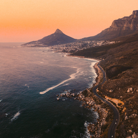 Camps Bay and Lions Head Peak from the Western Coast
