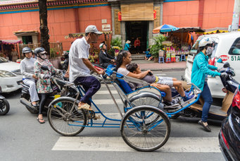 Saigon rickshaws