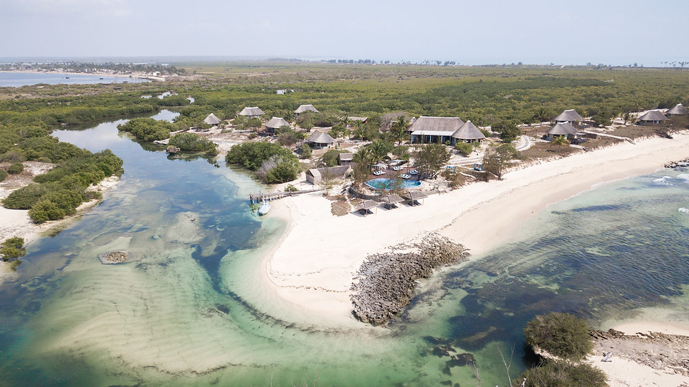 Coral Lodge Drone Shot