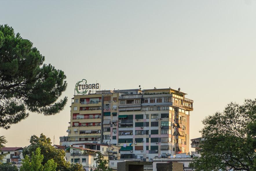 Dusk in Tirana