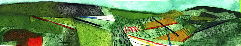 Pentimento Ceramics and Print_Landscape_collograph_Drypoint_printmaking_The Peak District