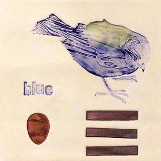 Pentimento Ceramics and print_british birds_garden birds_blue tit_handmade_ceramic tile_original art_bespoke