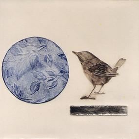 Pentimento Ceramics and print_wren_british birds_garden birds_handmade_ceramic tile_original art_bespoke