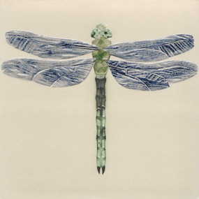 Pentimento Ceramics and Print_Dragonfly_insects_winged things_british_handmade_bespoke_original art_ceramic tile