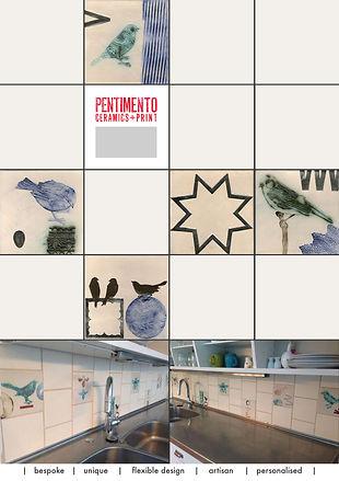 Bespoke ceramics, Hand made ceramics, ceramic tiles, Pentimento Ceramics