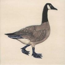 Pentimento Ceramics and Print_Canada Goose_goose_geese_Handmade_bespoke_ceramic tile_hand decorated_original art