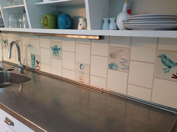 handmade tiles, bespoke tiles, tile commission, Pentimento ceramics