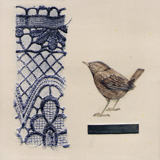 Pentimento Ceramics and print_wren_british birds_garden birds_handmade_ceramic tile_original art_bespoke_pattern