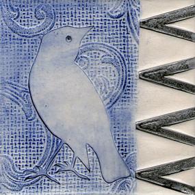 Pentimento Ceramics and print_starling_british birds_garden birds_handmade_ceramic tile_original art_bespoke_pattern