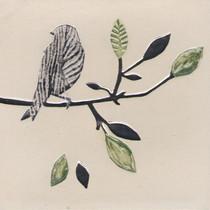 Pentimento Ceramics and Print_silver twig_Handmade_bespoke_ceramic tile_hand decorated_birds_british garden birds_original art