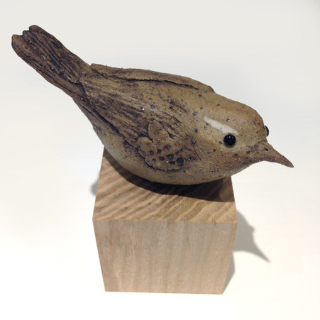 wren_bird_ceramic bird_garden bird_British bird_Ash_birds in clay_hand built_original art_bird sculpture_hand made_Pentimento Ceramics and Print