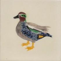 Pentimento Ceramics and Print_Teal_Handmade_bespoke_ceramic tile_hand decorated_original art