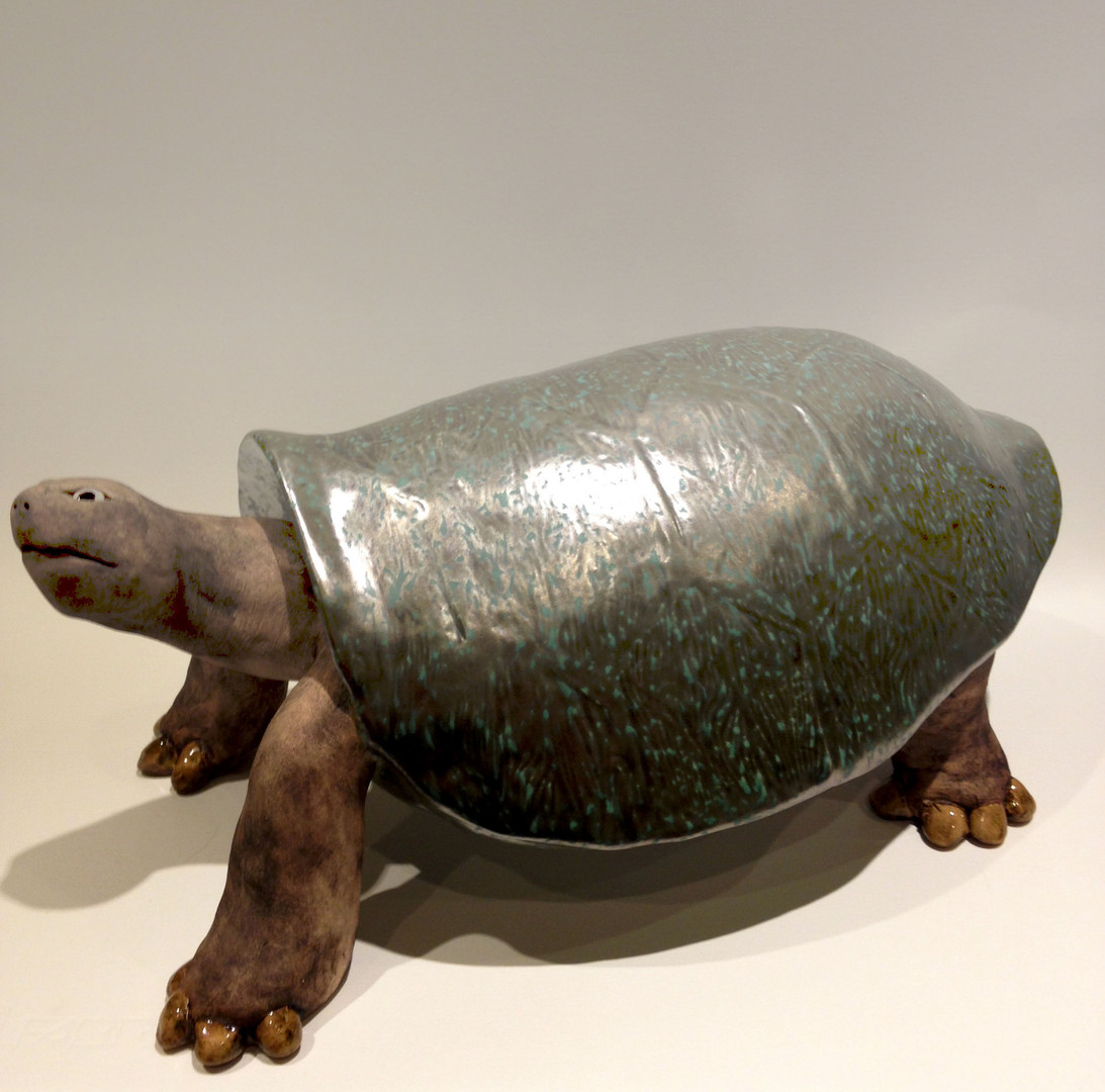 Pentimento Ceramics and Print_animal sculpture_animals in clay_ceramic tortoise_original art_hand built ceramics_reptiles