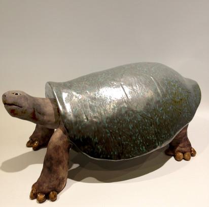 Pentimento Ceramics and Print_animal sculpture_animals in clay_ceramic tortoise_original art_hand built ceramics_reptiles