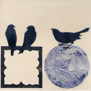 Pentimento Ceramics and print_british birds_garden birds_handmade_ceramic tile_original art_bespoke