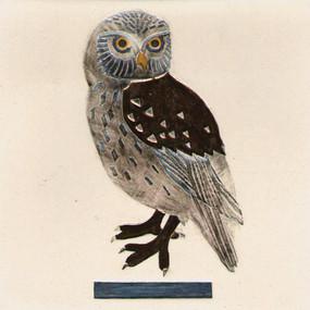 Pentimento_Ceramics_and_Print_Handmade_Ceramic tile_Bespoke_Owl_tawny owl