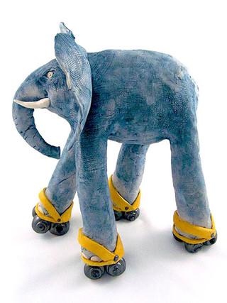 Rocky the Rollerskating Elephant.