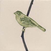 Pentimento Pentimento Ceramics and Print_Finch_Handmade_bespoke_ceramic tile_hand decorated_birds_british garden birds_original art