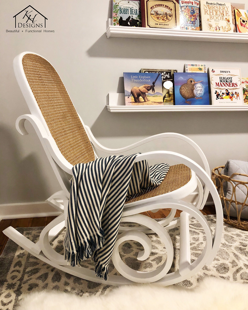 White bentwood chair