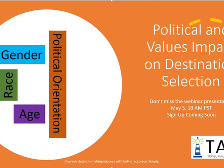Political and Values Impact on Destination Selection Webinar May 5, 10AM PST Sign Up Here!