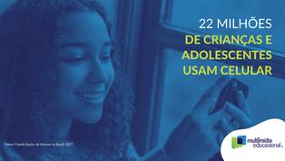 22 milhões de crianças e adolescentes usam celular