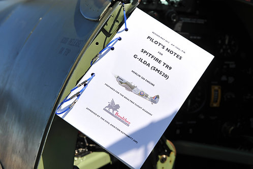 SPITFIRE TR.9 PILOTS NOTES FOR SM520